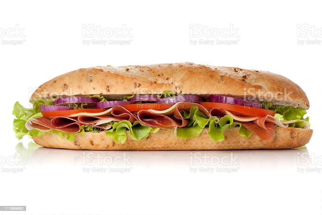Long sandwich stock photo