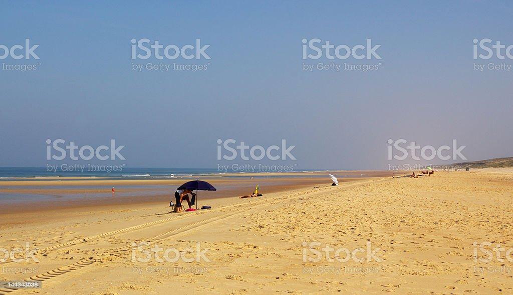 long sandy beach royalty-free stock photo