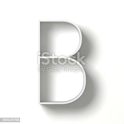 istock Long shadow font. Letter B. 3D 594028768