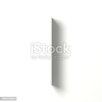 583978326 istock photo Long shadow font. Letter I. 3D 594028554