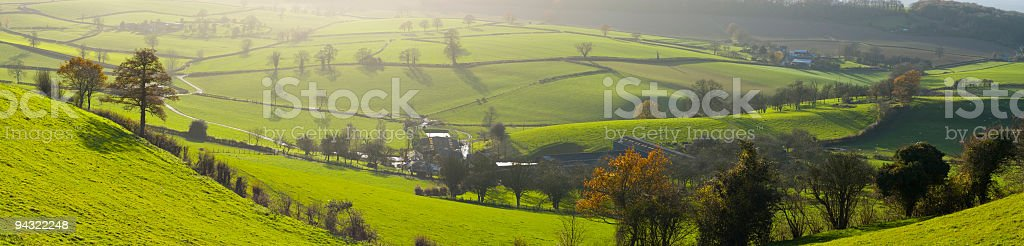 Long shadows on the landscape royalty-free stock photo