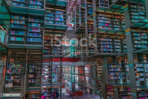 istock Long shot view of Jose Vasconcelos library in Mexico 1086733092