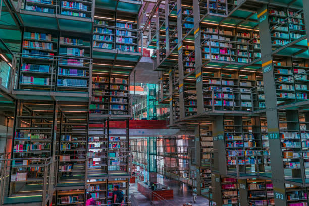Long shot view of Jose Vasconcelos library in Mexico stock photo