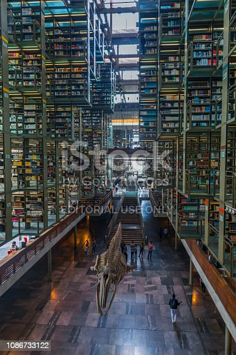istock Long shot view of Jose Vasconcelos library in Mexico 1086733122