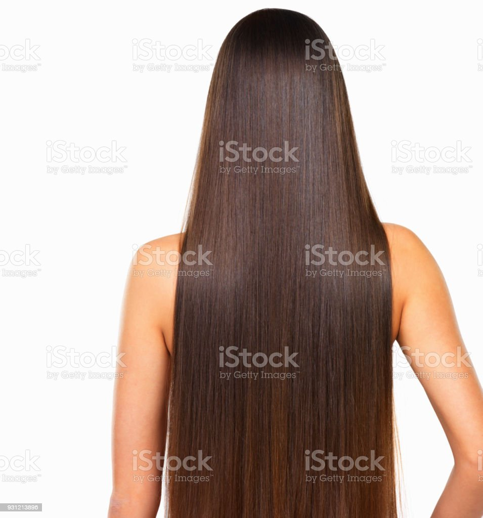Long silky hair for days stock photo