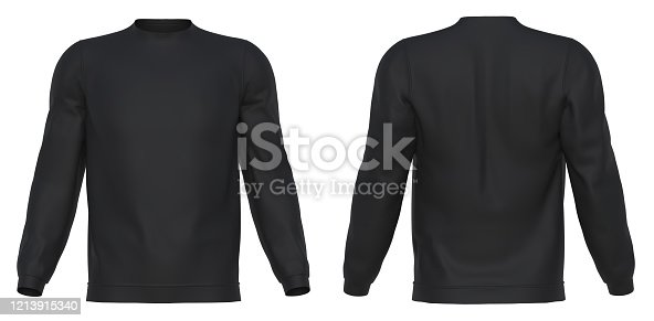 long sleeve, 3d rendering, isolated