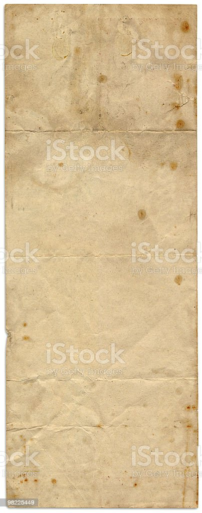 Long Stained Paper XXL royalty-free stock photo