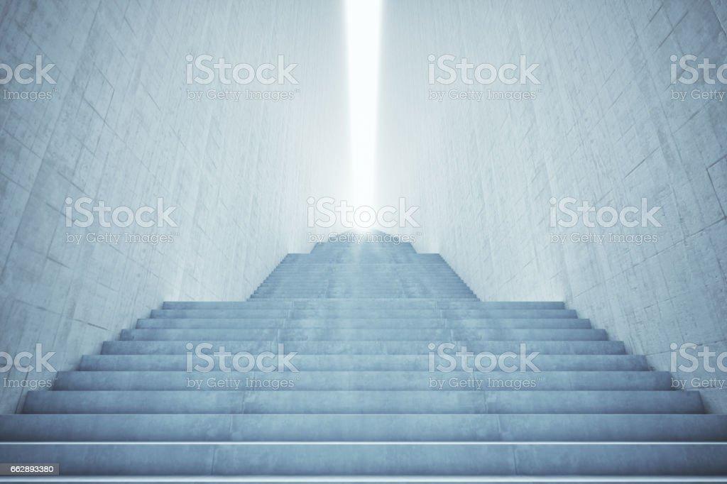 Long Stairway stock photo