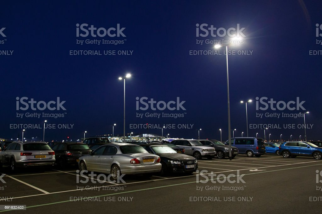 Long Stay Parking at London Heathrow Airport stock photo