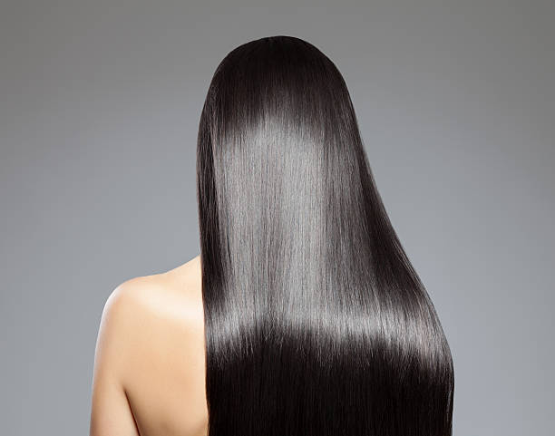 long straight hair - glad stockfoto's en -beelden
