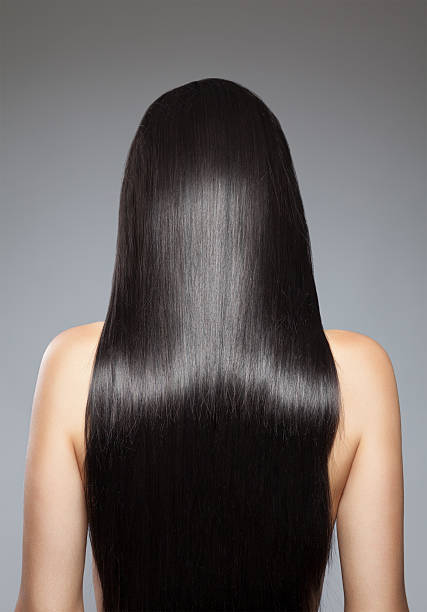 long straight hair - long stock pictures, royalty-free photos & images