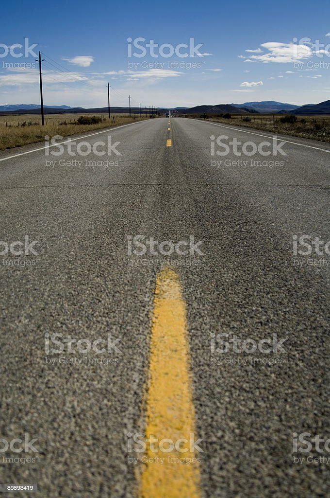 Long Straight Highway royalty-free stock photo