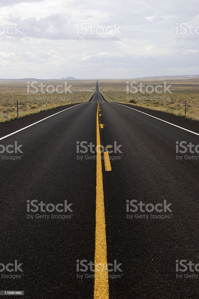 Long, Straight Road royalty-free stock photo