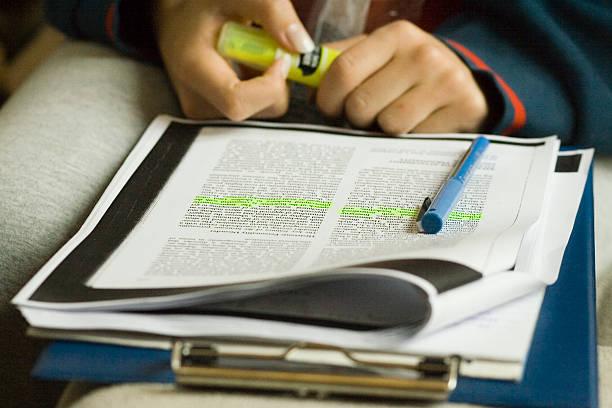 Long study session stock photo