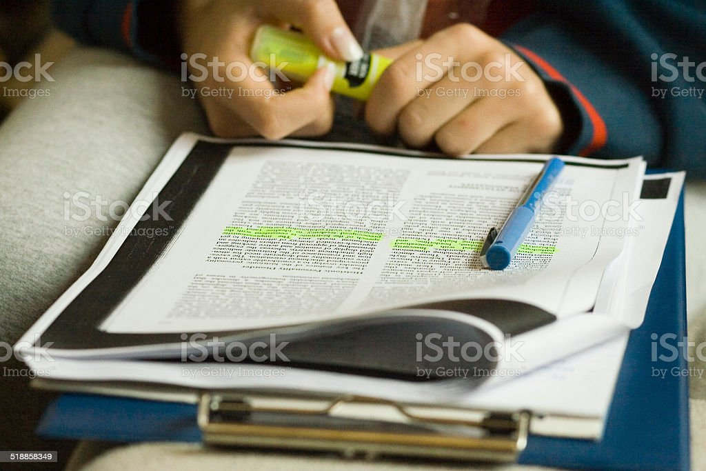 Long study session stock photo