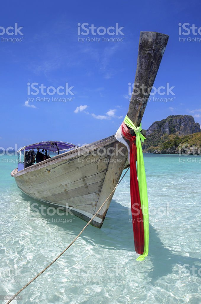 Long tail boat in Thailand royalty free stockfoto