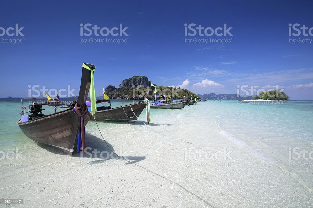 Long tail boat in Thailand royalty-free stock photo