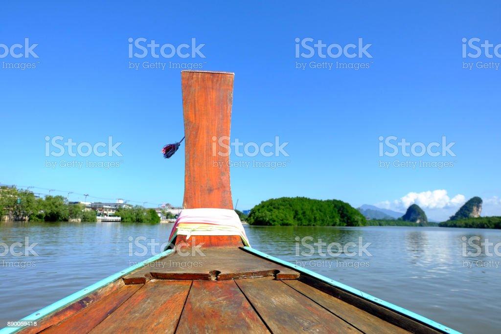 Long Tail Boat Krabi stock photo