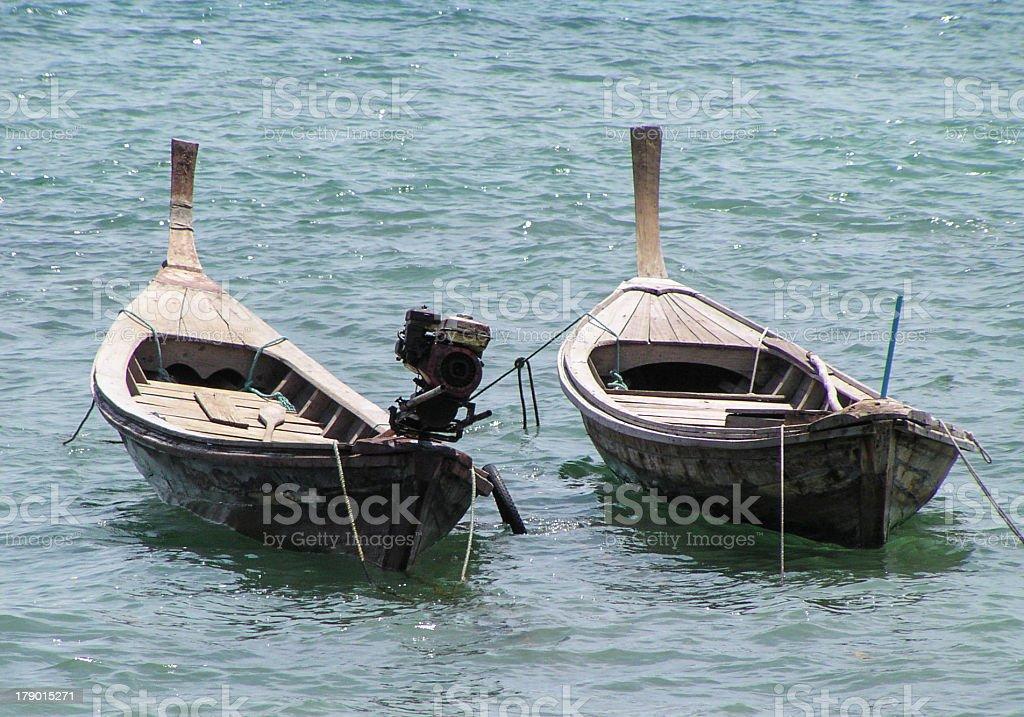 Long Tail Boats royalty-free stock photo