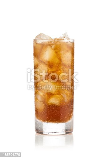 Glass of Refreshing Ice Tea