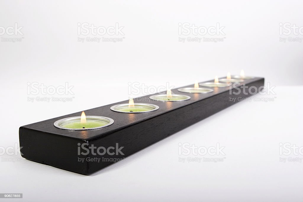 long tea candle holder royalty-free stock photo