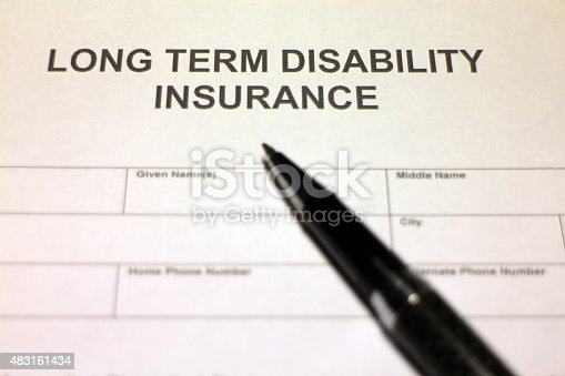 istock Long term Disability Insurance Application Document 483161434