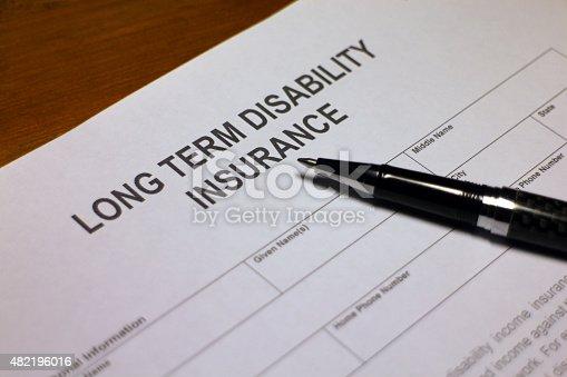 istock Long term Disability Insurance Application 482196016
