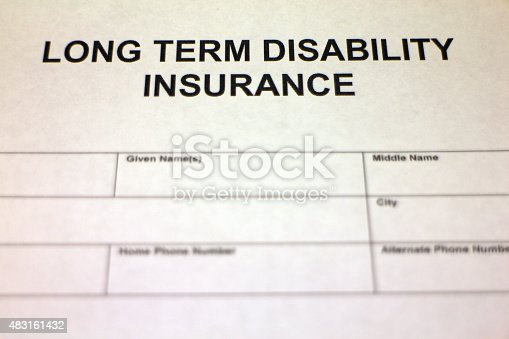 istock Long term Disability Insurance Application 483161432
