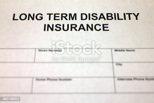 istock Long term Disability Insurance Claim 482196022