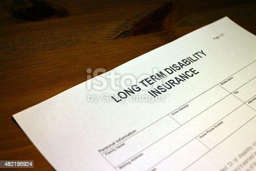 istock Long term Disability Insurance 482195924