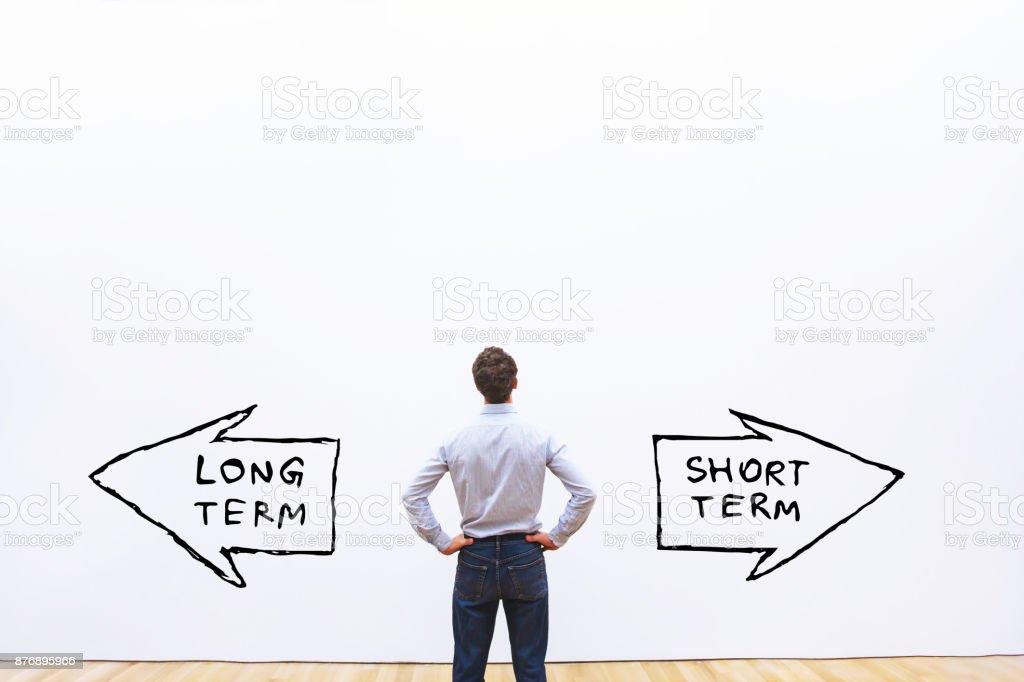corto plazo de largo plazo vs - foto de stock