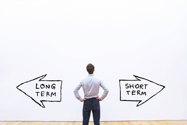 long term vs short term - long stock pictures, royalty-free photos & images