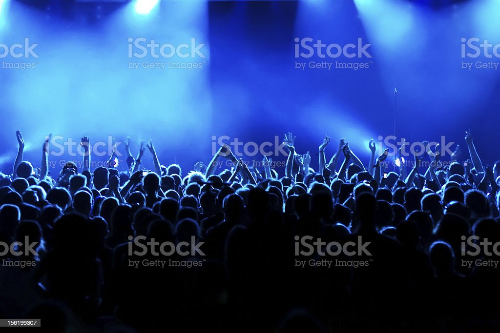 Long time exposure at concert royalty-free stock photo