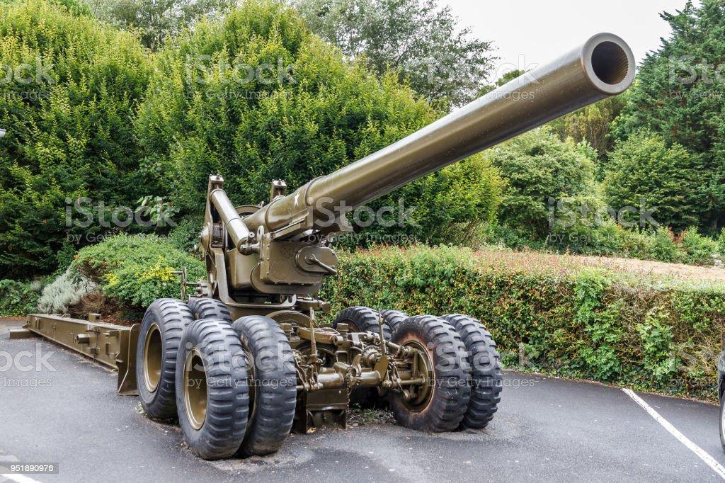 Long Tom artillery stock photo