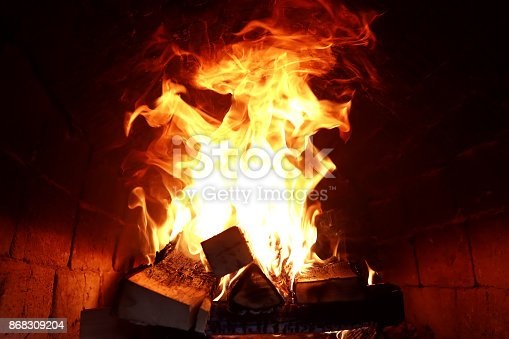 874991150istockphoto Long tongues of flame of burning fire 868309204