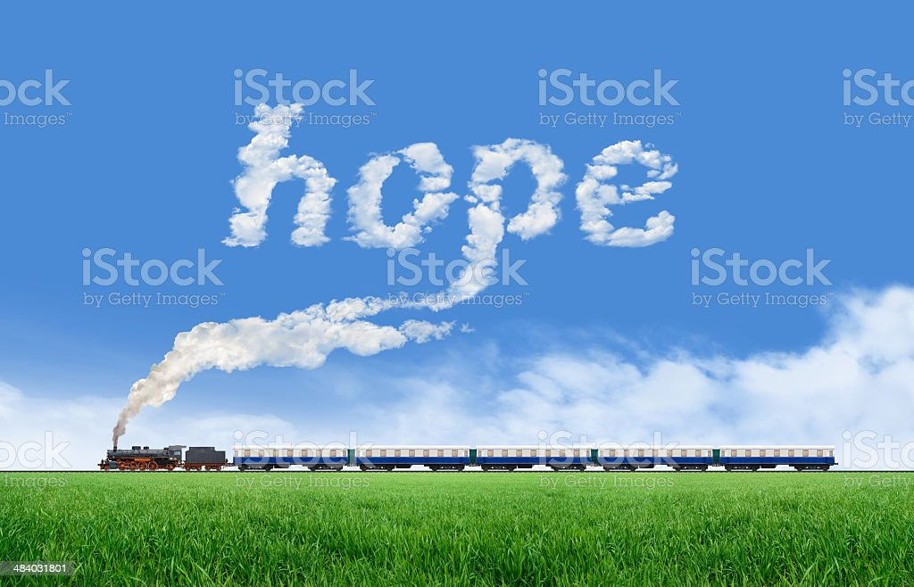 Long Train and Hope royalty-free stock photo