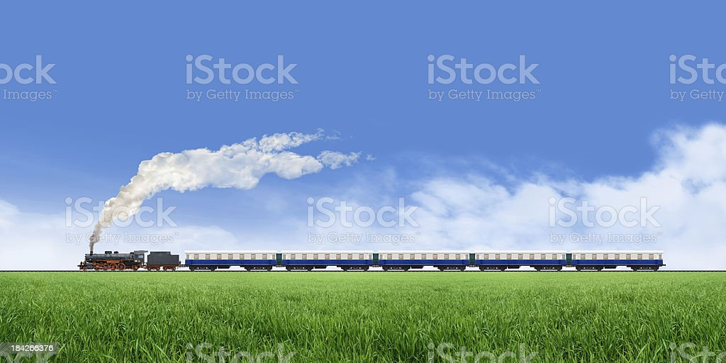 Long Train Running royalty-free stock photo