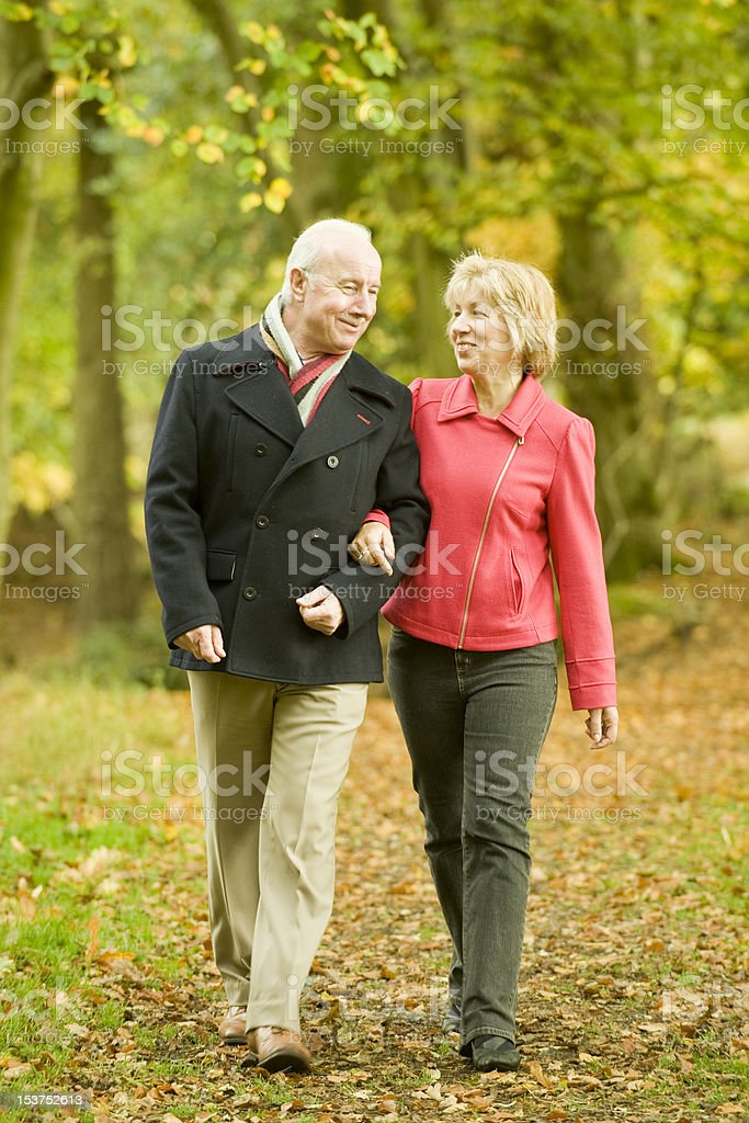 Long Walk in the park royalty-free stock photo