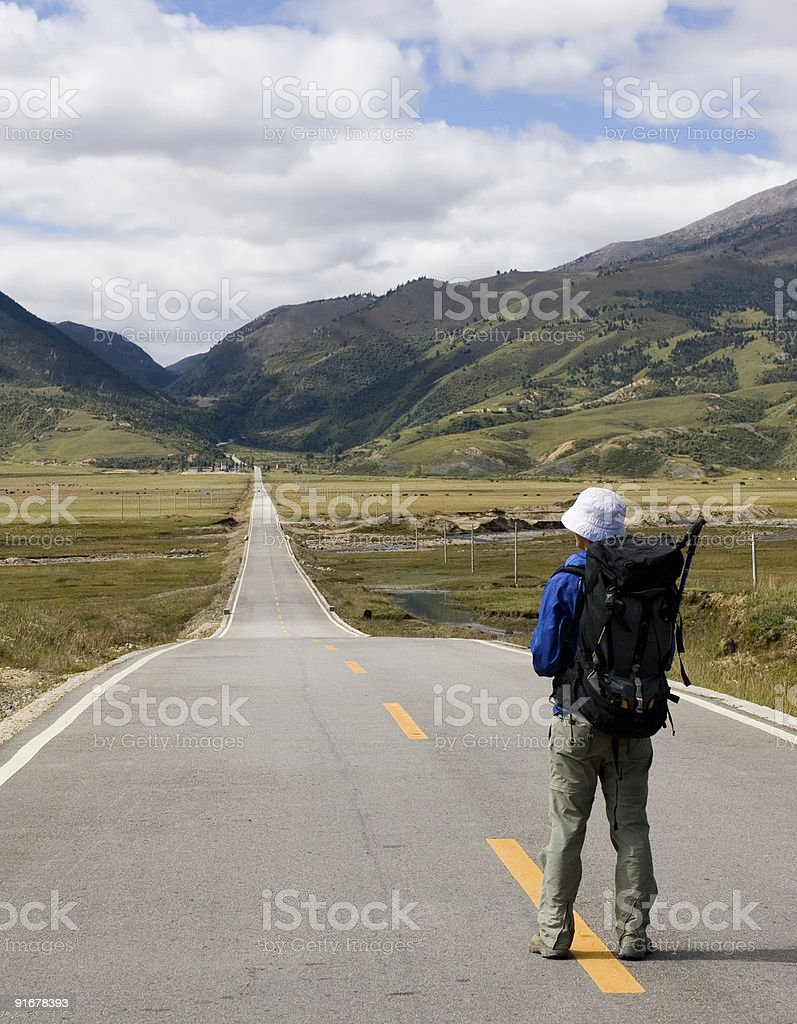 Long way ahead royalty-free stock photo