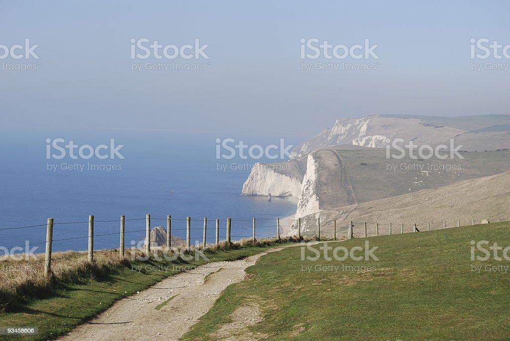long way along England's coast royalty-free stock photo