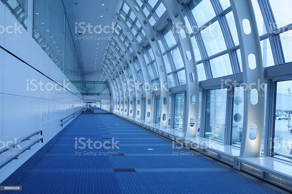 Long way - at airport royalty-free stock photo