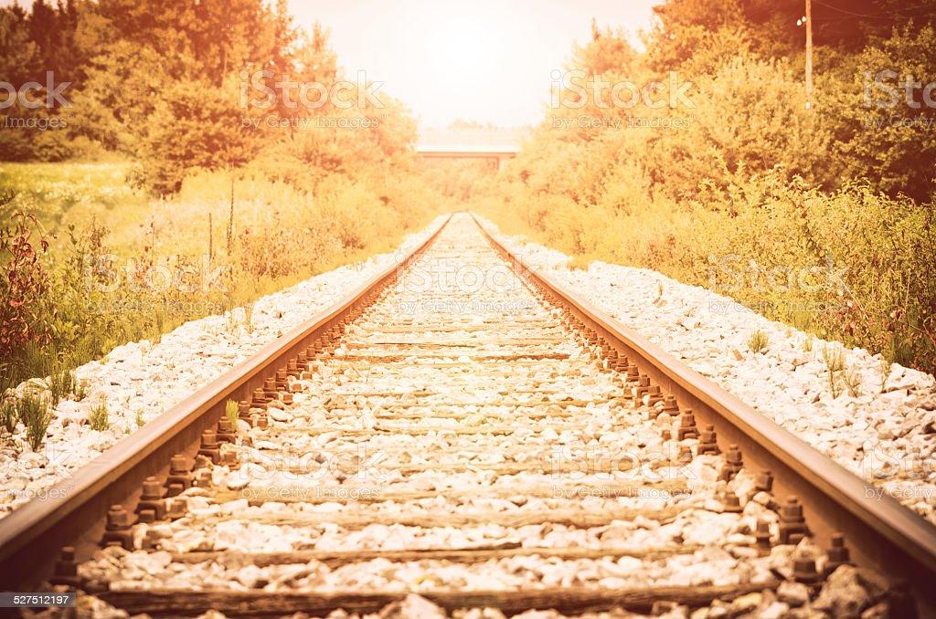 Photo of railroad track