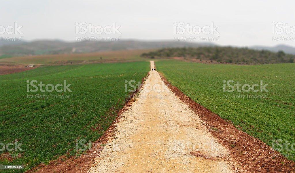 Long Way to Santiago stock photo