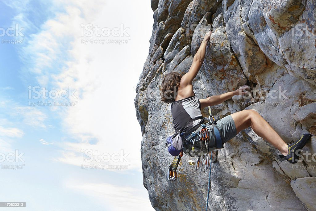 Long way to the top... stock photo