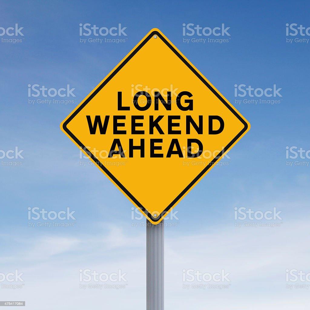 Long Weekend Ahead stock photo