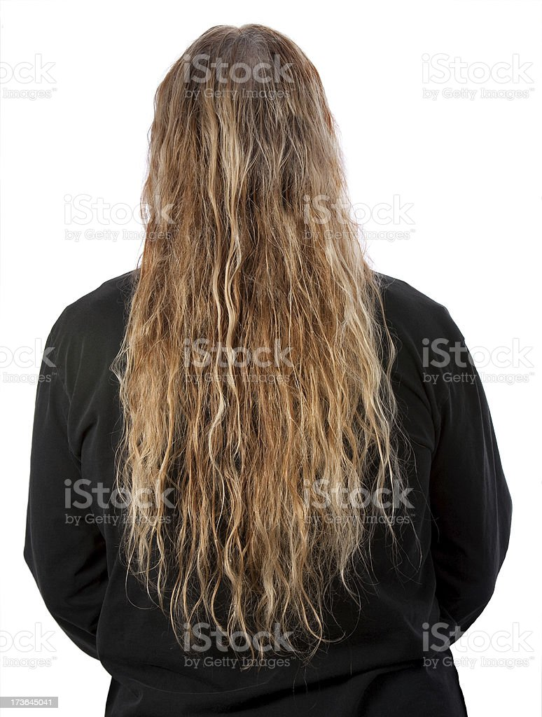 long wet tangled blonde hair royalty-free stock photo