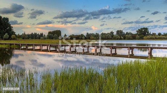 istock Long wooden footbridge 498396938