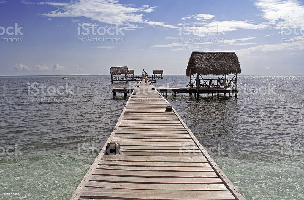 Long Wooden Pier royalty-free stock photo
