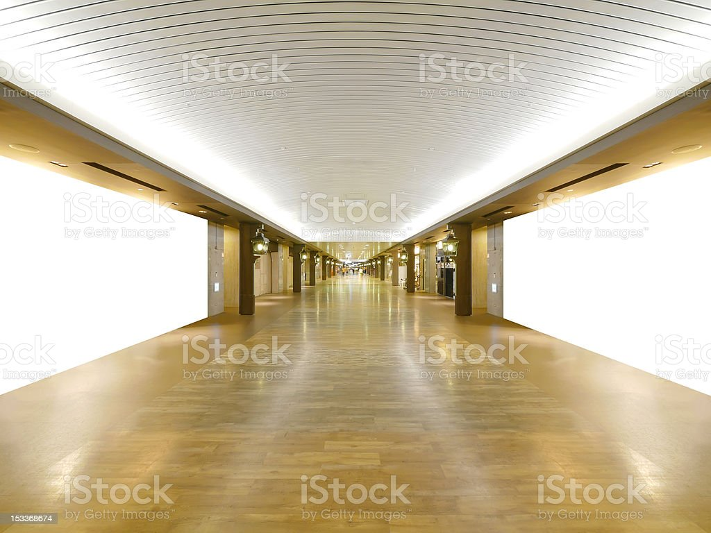Long wooden walkway royalty-free stock photo