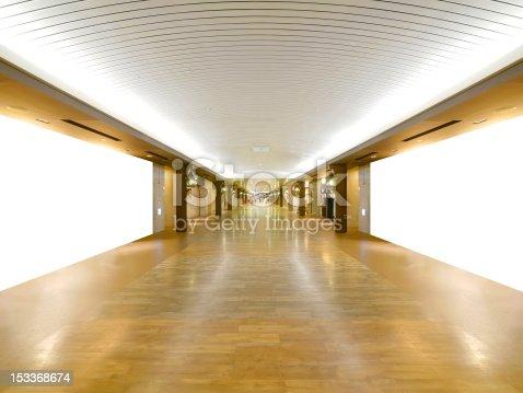 istock Long wooden walkway 153368674